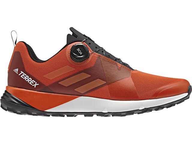 recognized brands entire collection 2018 sneakers adidas TERREX Two Boa Shoes Men active orange/truora/core black